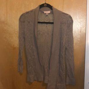 Ann Taylor Loft crocheted sweater 3/4 sleeve